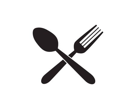 spoon and fork logo template illustration