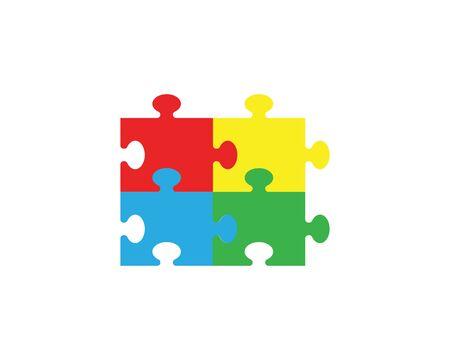 puzzle vector icon template illustration Illustration