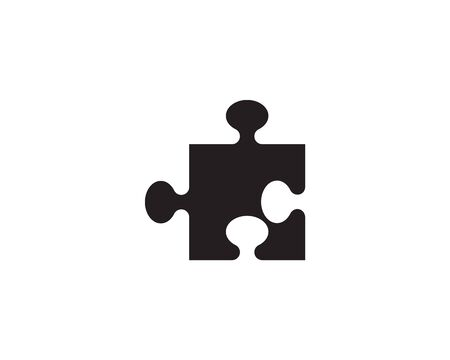 puzzle vector icon template illustration Stock Illustratie