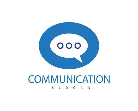 communication logo template design illustration