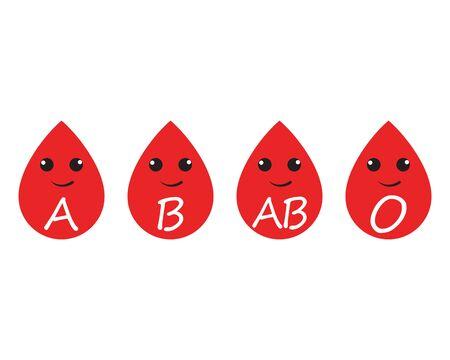Blood logo template vector icon illustration design