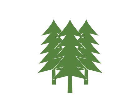 Cedar tree Logo template vector icon illustration design Vettoriali