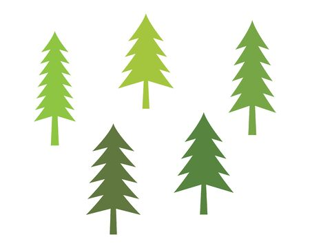 Cedar tree Logo template vector icon illustration design  イラスト・ベクター素材