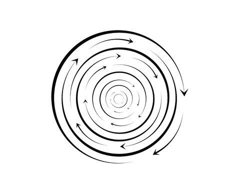 vortex circle logo and symbols template icons app Zdjęcie Seryjne - 128961223