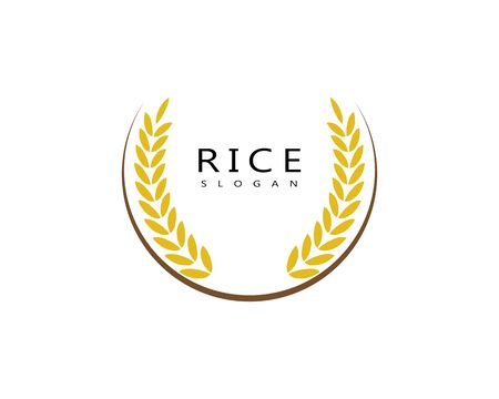 rice food meal logo and symbols template icons Çizim