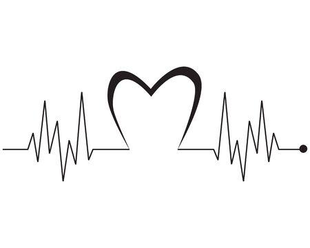 Art design health medical heartbeat pulse vector template Stock Vector - 128962743