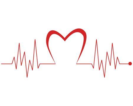 Art design health medical heartbeat pulse vector template Stock Vector - 128962708