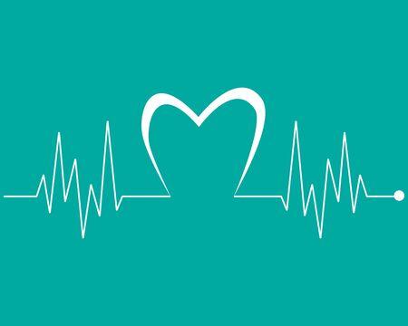 Art design health medical heartbeat pulse vector template Stock Vector - 128962702