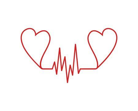 Art design health medical heartbeat pulse vector template Stock Vector - 128962748