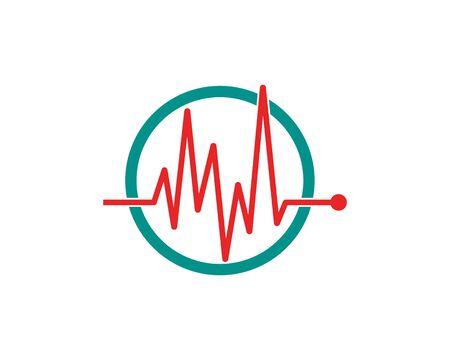 Art design health medical heartbeat pulse vector template Stock Vector - 128963087