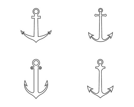 anchor logo and symbol template Illustration Ilustrace