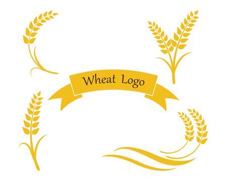 Diseño de icono de vector de plantilla de logotipo de trigo de agricultura Logos
