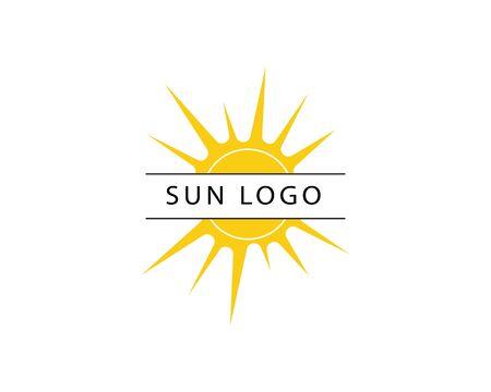 Vektorsymbol-Logo-Schablone Sonne über Horizont