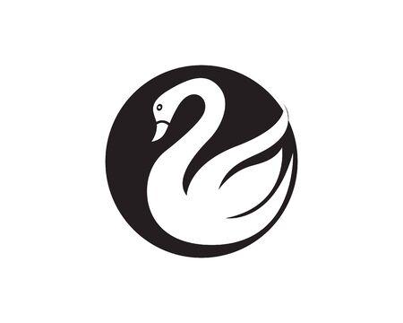Swan logo Template Standard-Bild - 129146295