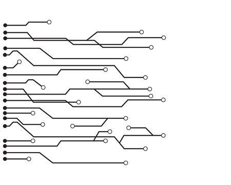 Diseño de ilustración de vector de logo de circuito