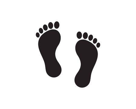 foot Logo Template Design Illustration Illustration