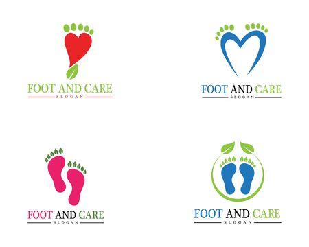 foot Logo Template Design Illustration 일러스트