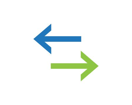 symbol of bidirectional arrows data transfer vector