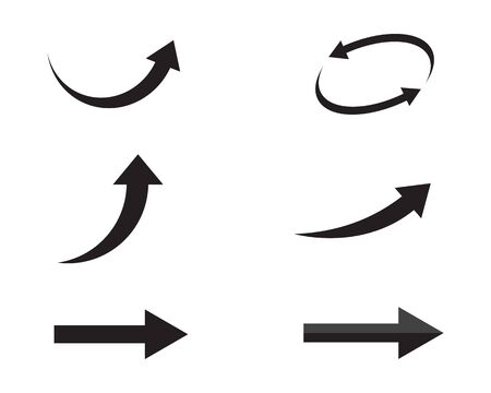 Arrows vector illustration icon Logo Template design Reklamní fotografie - 128965829