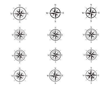 Vector - Compass signs and symbols logo Logo