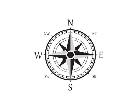 Vector - Compass signs and symbols logo Ilustrace