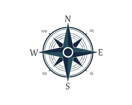 Kompas Logo Szablon wektor ikona ilustracja projekt