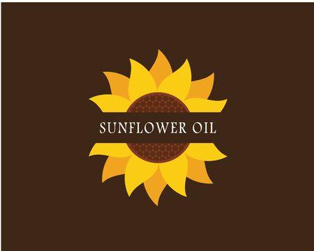 Sunflower logo icon vector illustration