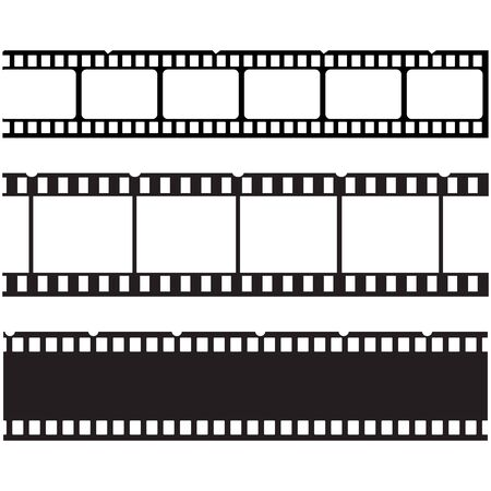 Filmstreifen Logo Vorlage Vektor-Illustration Design
