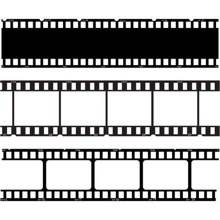 filmstrip Logo Template vector illustratie ontwerp