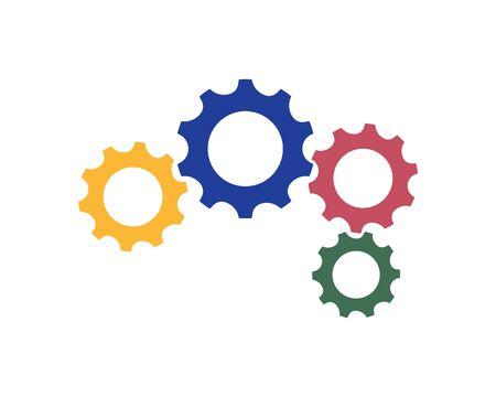 Engrenage Logo Template vector icône illustration design Logo