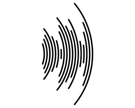 Geluidsgolf icoon Vector Illustratie
