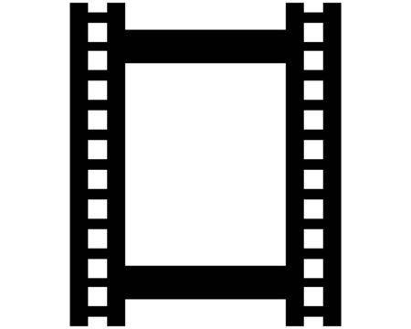 Diseño de ilustración de vector de plantilla de logotipo de tira de película