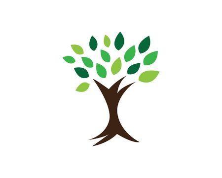 tree vector icon logo green design Illustration