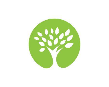 tree vector icon logo green design Ilustracja