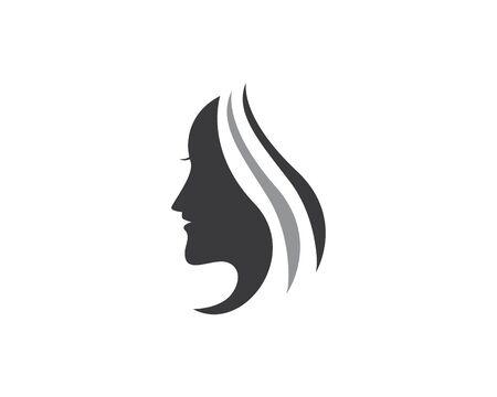 ikona logo piękna kobieta