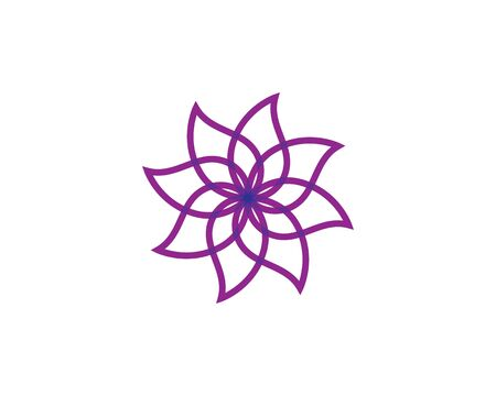 Beauty Vector flowers design logo Template icon Иллюстрация
