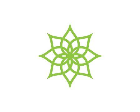 Beauty Vector flowers design logo Template icon Standard-Bild - 129090427