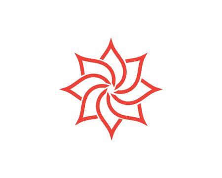 Beauty Vector flowers design logo Template icon Standard-Bild - 129090432