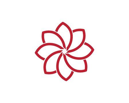 Beauty Vector flowers design logo Template icon Standard-Bild - 129090702