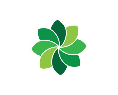 Beauty Vector flowers design logo Template icon Standard-Bild - 129090712
