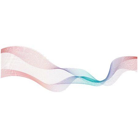 abstract color wave flow design element Foto de archivo - 129146862