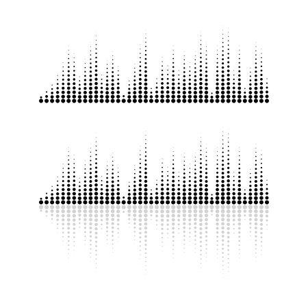 Audio technology, music sound waves vector icon illustration