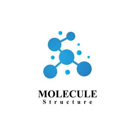 Molecular structure chemical atoms vector illustration Archivio Fotografico - 129148324