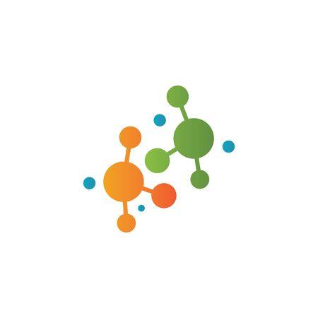 Molecular structure chemical atoms vector illustration Çizim