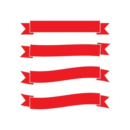 Ribbon logo template vector icon design