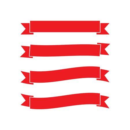 Wstążka logo szablon wektor ikona design