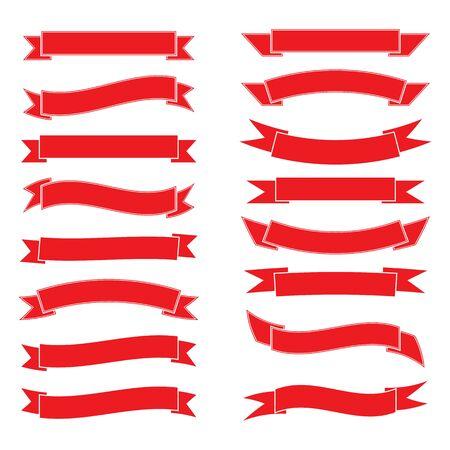 Ribbon logo template vector icon design Ilustrace