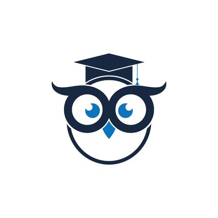 Owl Logo Template Vector Illustration Banque d'images - 129148774