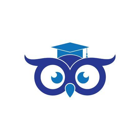 Owl Logo Template Vector Illustration Banque d'images - 129148778