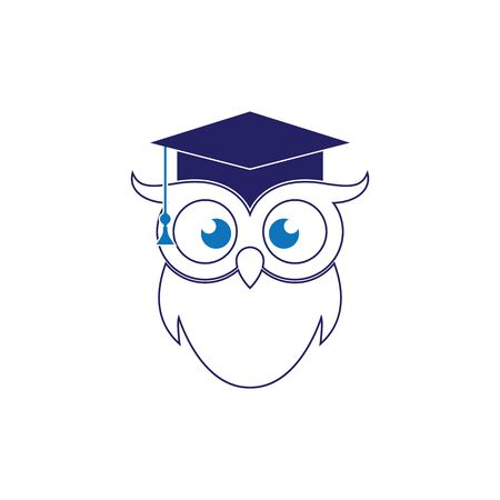 Owl Logo Template Vector Illustration Banque d'images - 129148819